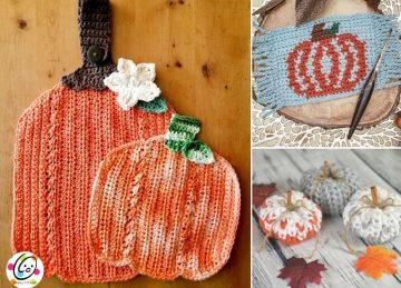 Cute Crochet Pumpkin Decor