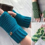 Cute Fingeless Crochet Gloves