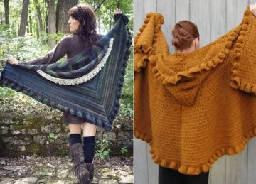 Fantastic Hooded Crochet Shawls