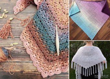 Feminine Crochet Granny Shawls