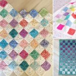 Fun And Colorful Square Crochet Blankets