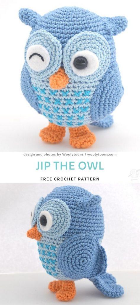 Jip The Owl Free Crochet Pattern