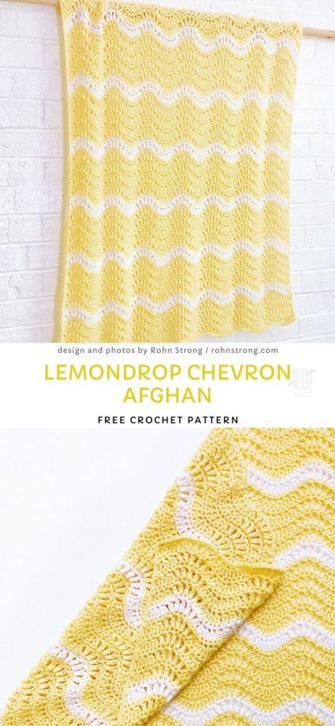 Lemondrop Chevron Afghan Free Crochet Pattern