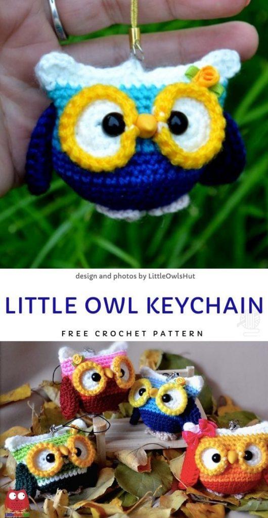 Little Owl Keychain Free Crochet Pattern_1