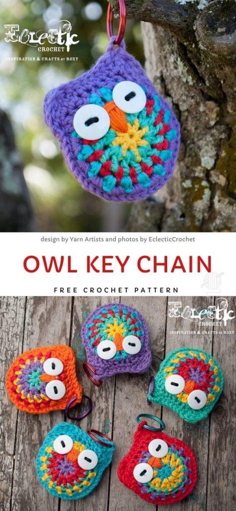 Owl Key Chain Free Crochet Pattern