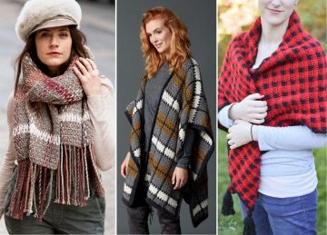 Plaid Crochet Wraps Free Crochet Pattern