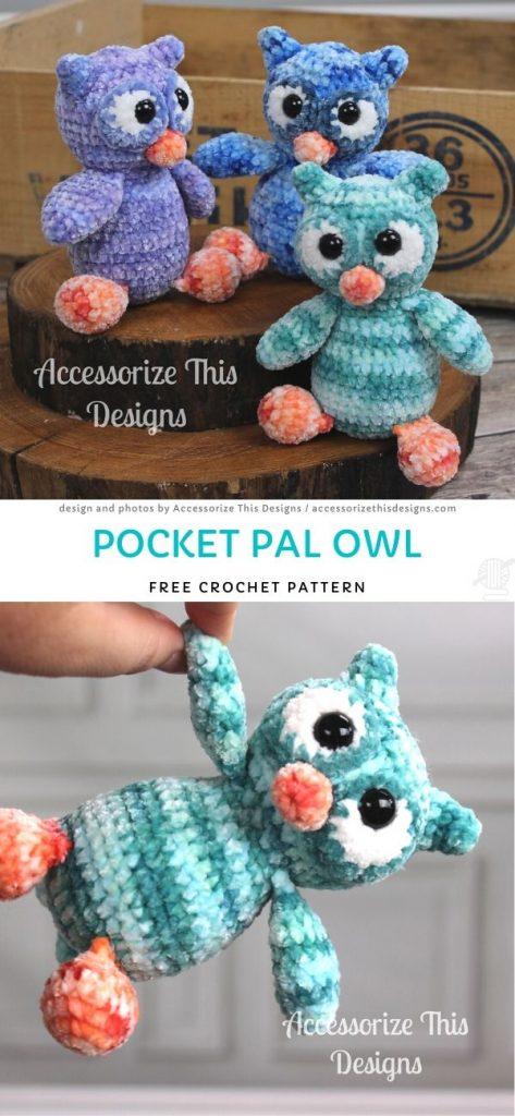 Pocket Pal Owl Free Crochet Pattern