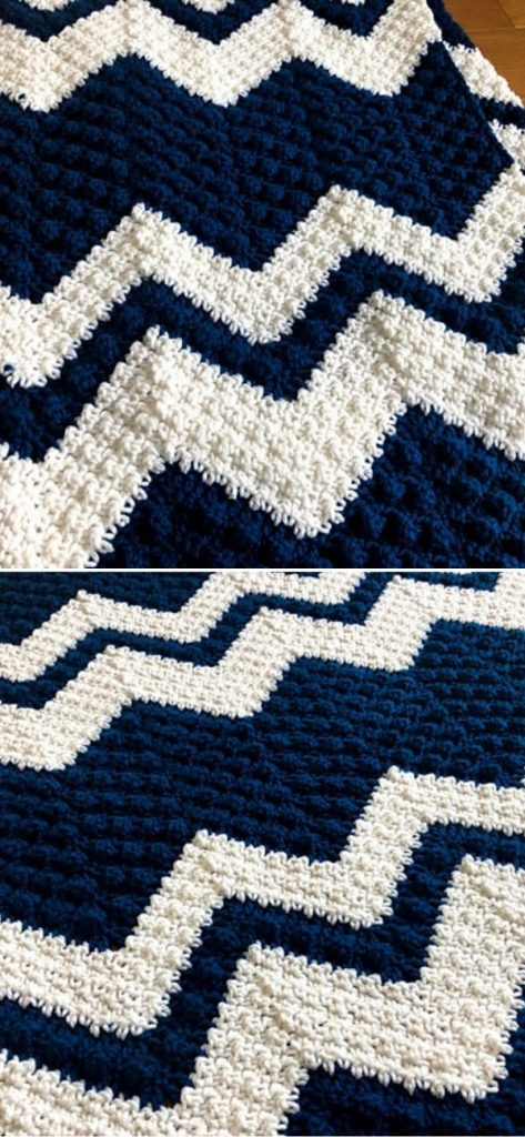 Stepping Textures Chevron Afghan