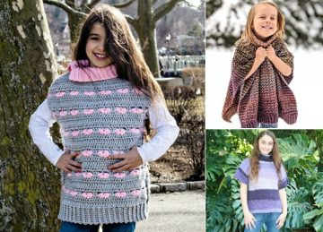 Stunning Crochet Ponchos for Girls Free Crochet Pattern Featured