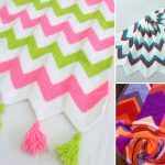 Sweet Soft Chevron Crochet Baby Blankets