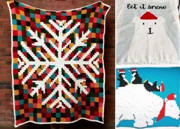 Winter C2C Crochet Blankets Ideas
