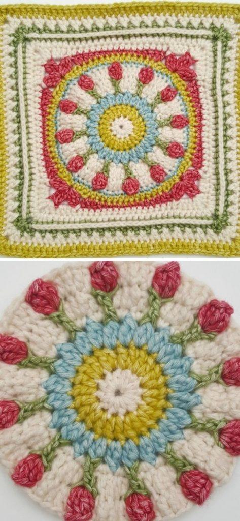 Wishing Well 12″ Crochet Square