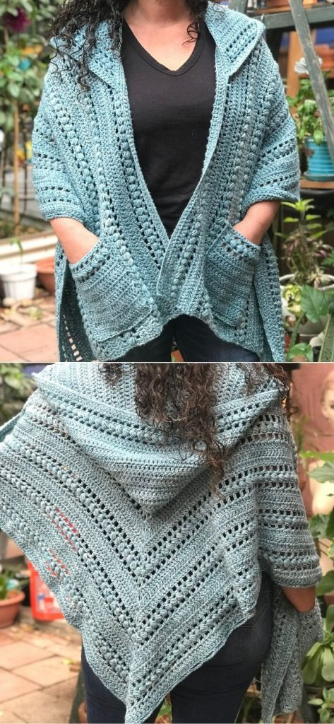 Juliette Hooded Pocket Shawl