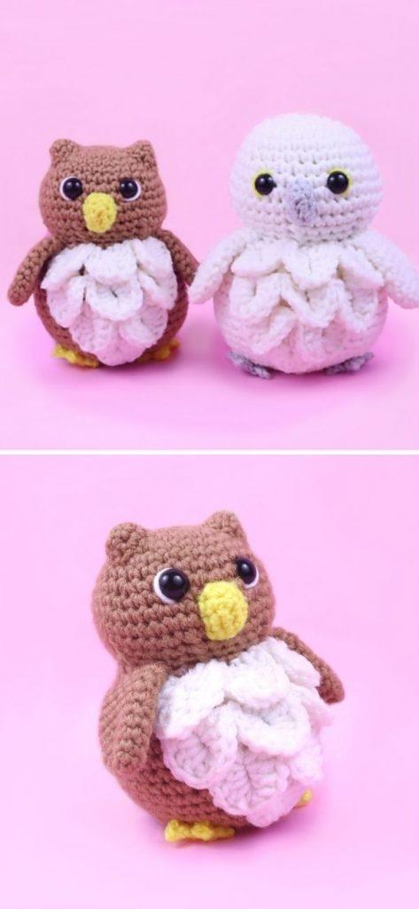 Owl & Snow Owl Amigurumi Free Till April 28, 2021!