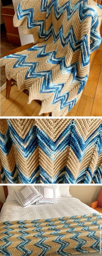 Crochet Chevron Blanket Pattern. A lovely tiny guide consisting of peaks and valleys is formed by this crochet chevron blanket design. A blanket or sheet scarf may be used.