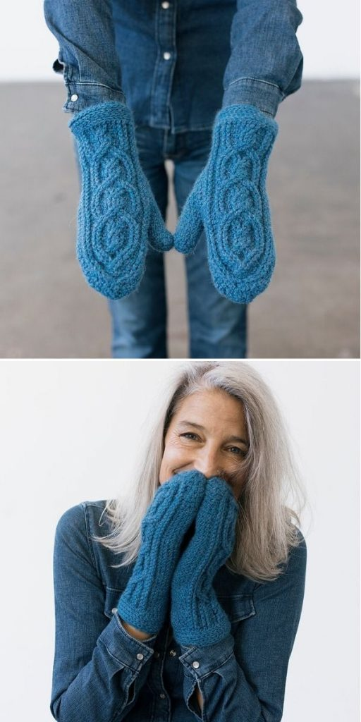 Cathedral Cable Mittens