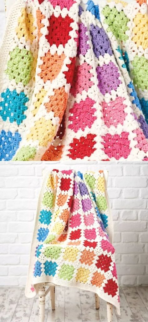 Free Granny Square Baby Blanket Crochet Pattern