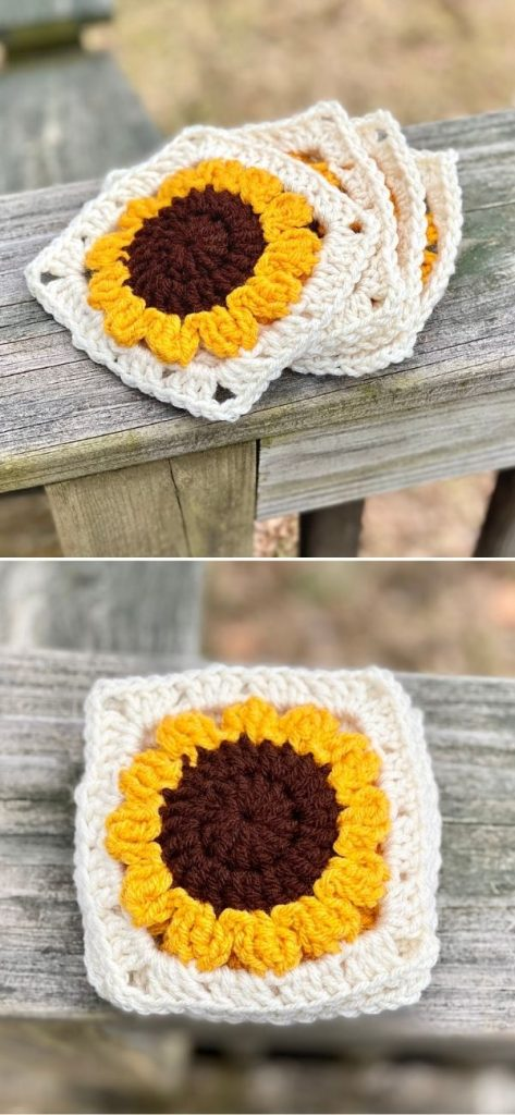 Sunflower Granny Coaster