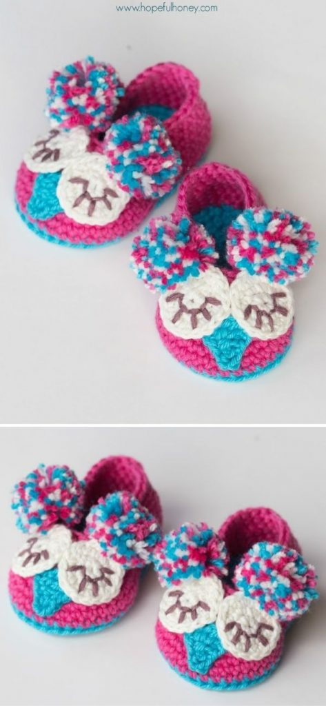 colorful crochet baby booties