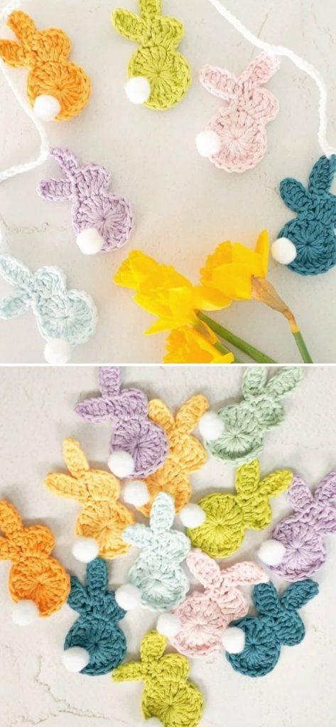 Crochet Easter Bunny Garland