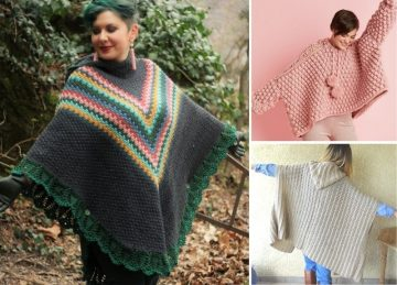 Fun Hooded Ponchos Free Crochet Patterns