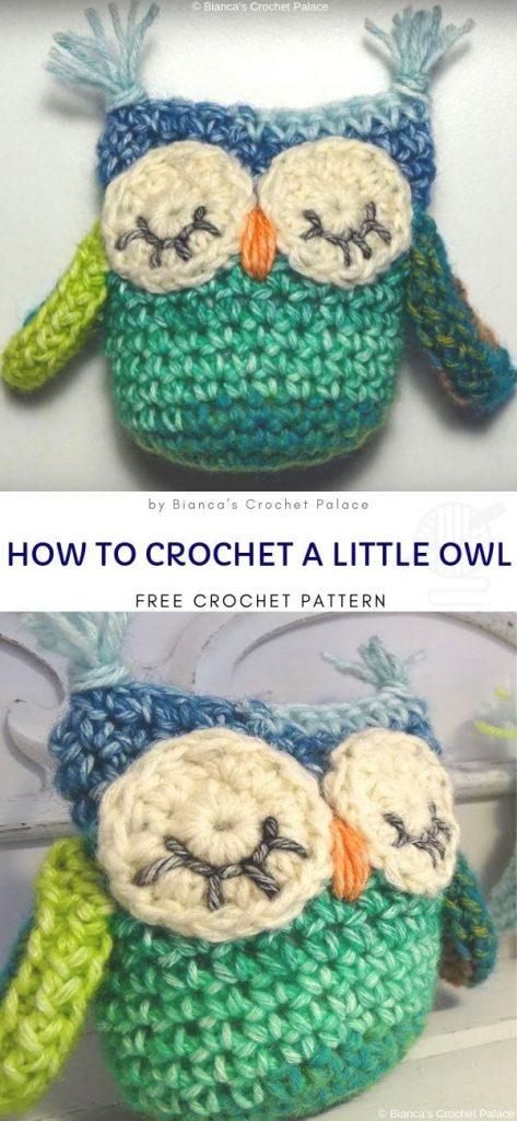 How to crochet a Little Owl free pattern