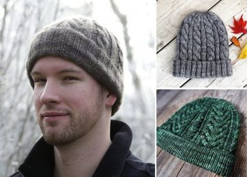 Knitted Winter Hats for Men Free Patterns