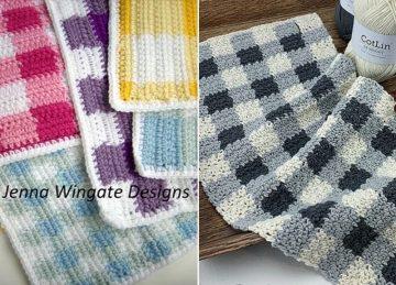 Plaid Kitchen Accessories Free Crochet Patterns