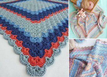 Adorable Shells Crochet Baby Blankets