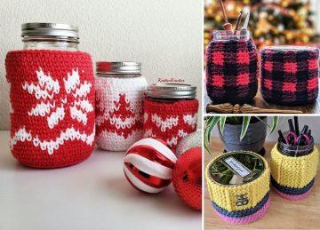 Mason Jar Crochet Ideas Featured