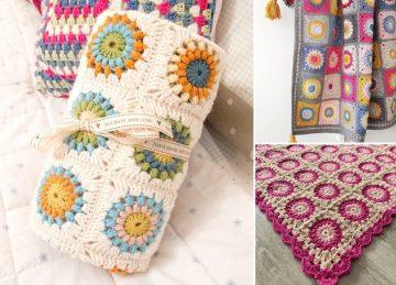 Beautiful Sunburst Granny Squares - Free Crochet Patterns