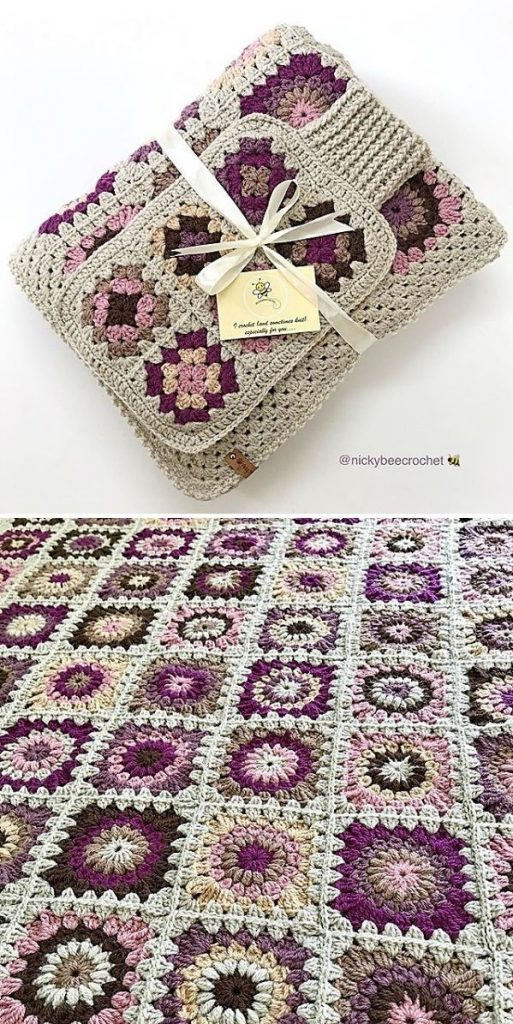 subdued square blanket