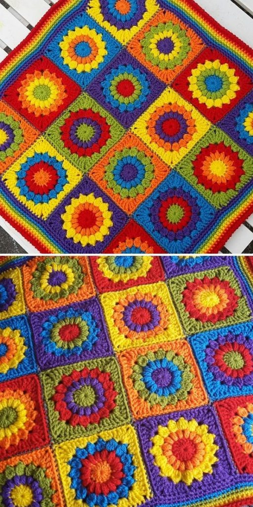 colorful square blanket
