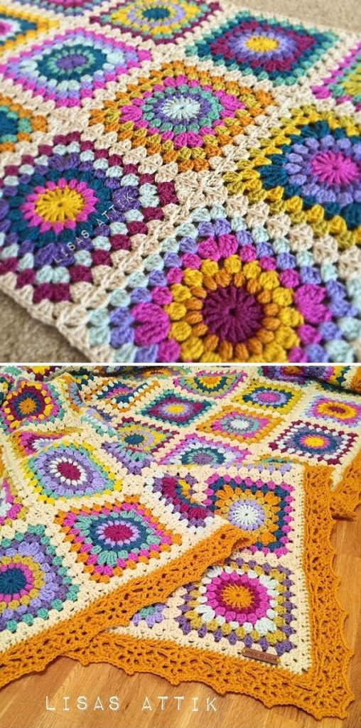 cheerful square blanket