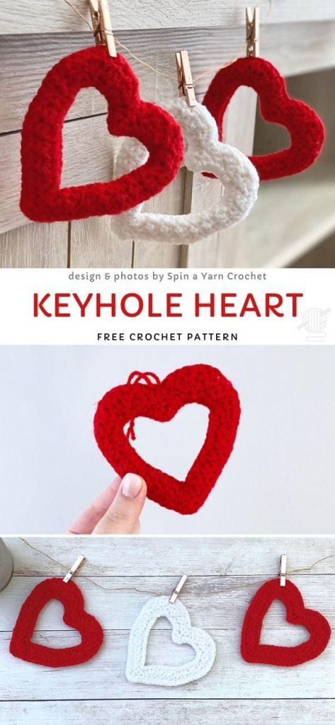 Keyhole Heart Free Crochet Pattern