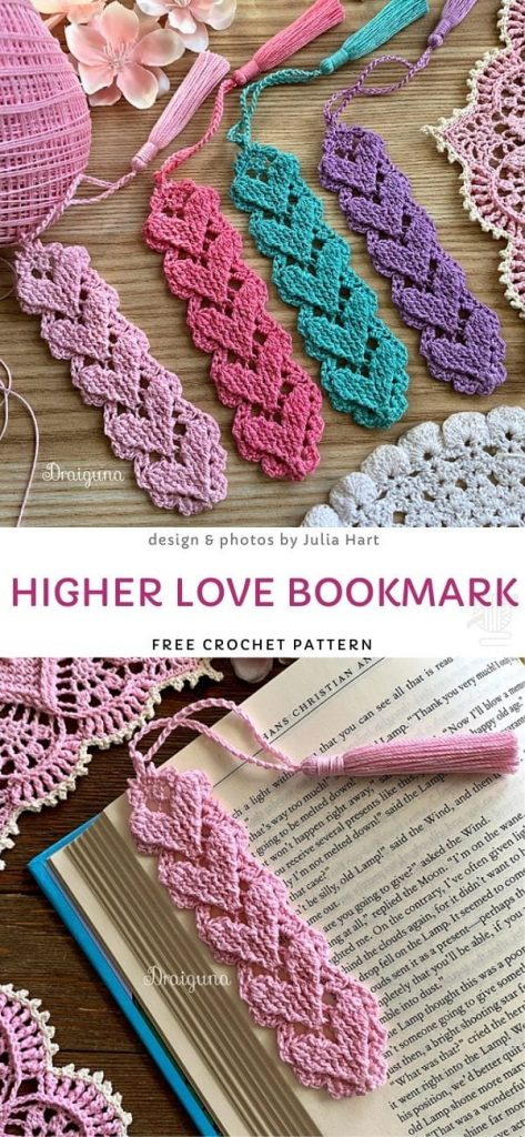 Higher Love BookmarkFree Crochet Pattern