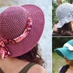 Beautiful And Feminine Crochet Sunhats