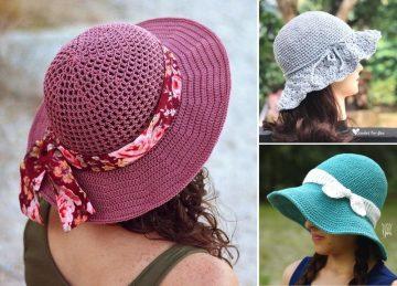 Lovely And Feminine Crochet Sunhats