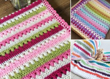 Best Ideas for Colorful Cosy Stripe Baby Blankets