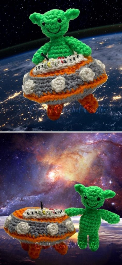 Flying Saucer and Little Alien