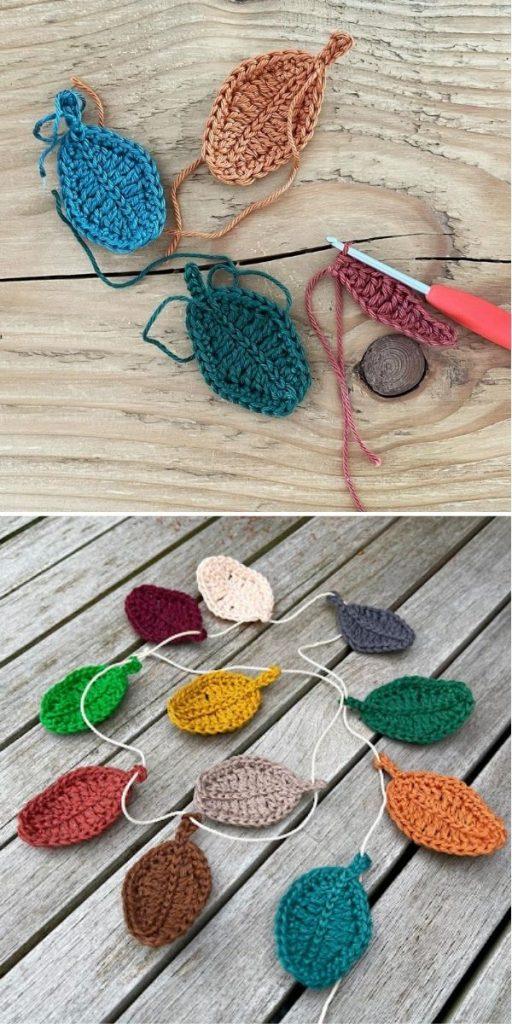 Crochet Leaves Garland Pattern