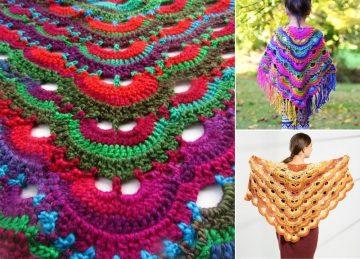 Beautiful Colorful Virus Shawls