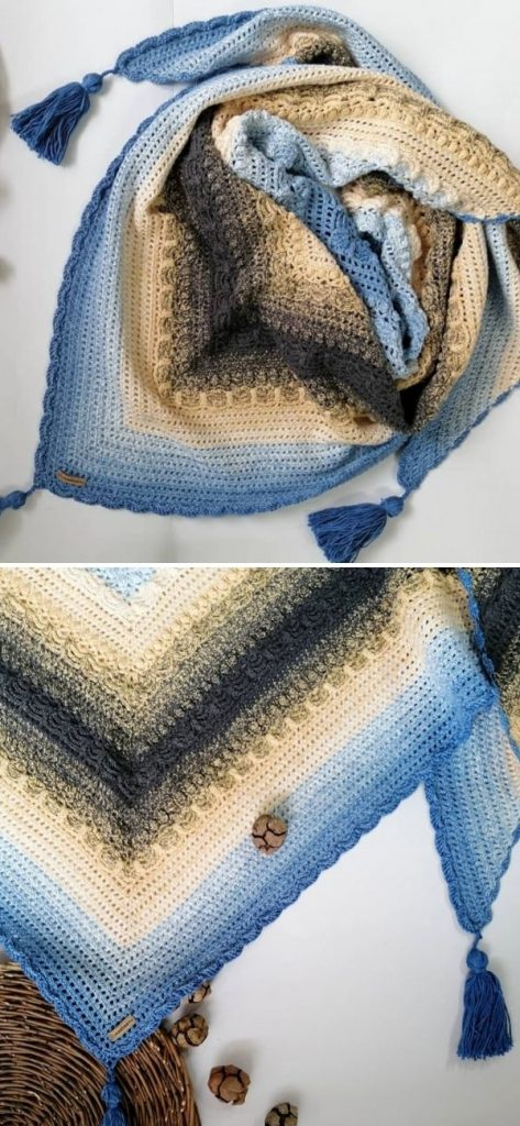 Lost in Time Shawl 2