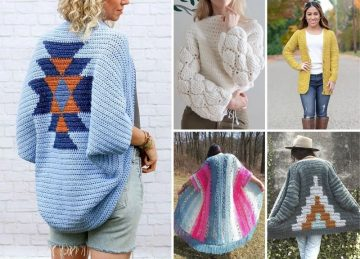 50+ Best Feminine Crochet Cardigan Patterns