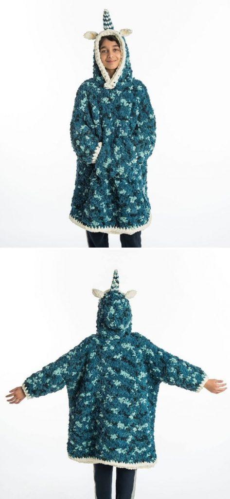 Unique Unicorn Kids Blanket Hoodie