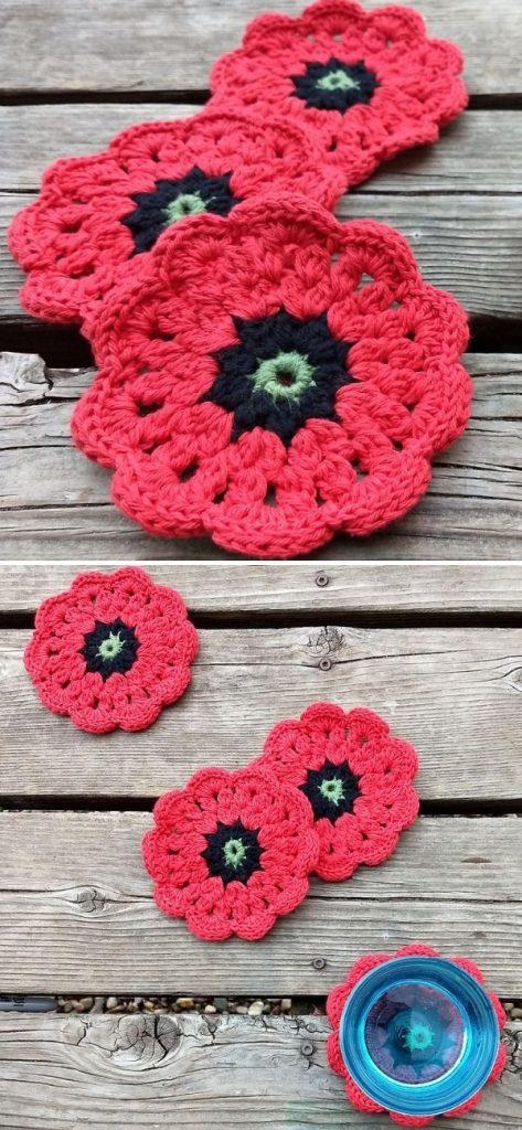 Poppy Petal Coasters