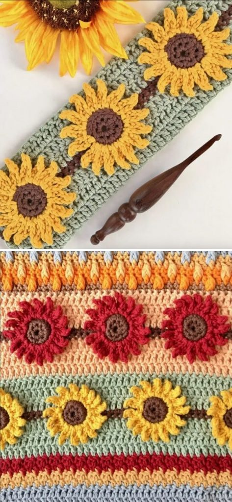 Sunflower Crochet Stitch