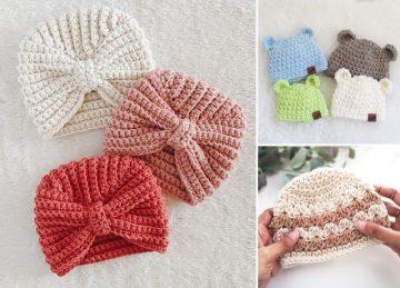 Baby Beanie Crochet Pattern 6-12 Months