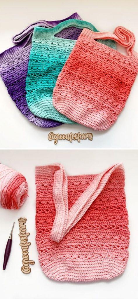 Sweet Stripes Market Tote Bag