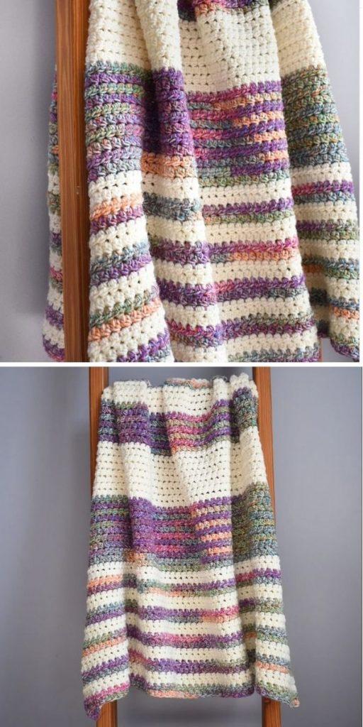 Crochet Sunset Stripes Blanket